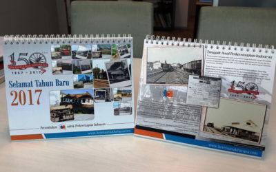 Kalender 150 Tahun Perkeretaapian Indonesia