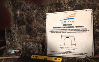 Memasang Prasasti Aset di Jalur KA Nonaktif Banjar-Pangandaran Bersama IRPS Bandung