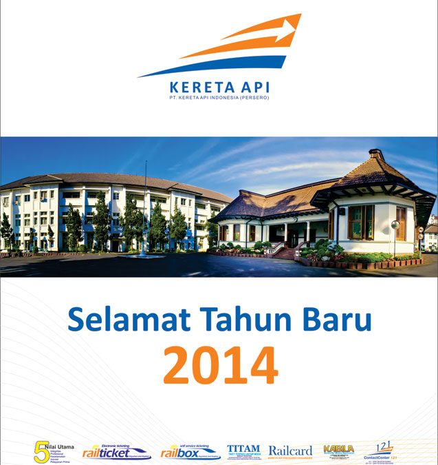 Desain Kalender Dinding Kereta Api Indonesia tahun 2014